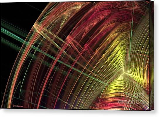Refraction Canvas Print by Sandra Bauser Digital Art