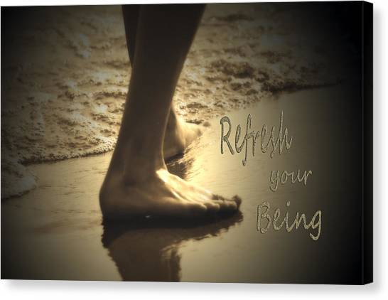 Refresh Your Being Spa Series Canvas Print