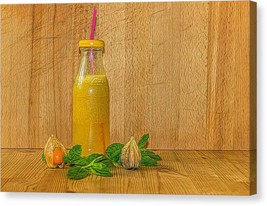 Smoothie Canvas Print - Refreshment by Angela Aird