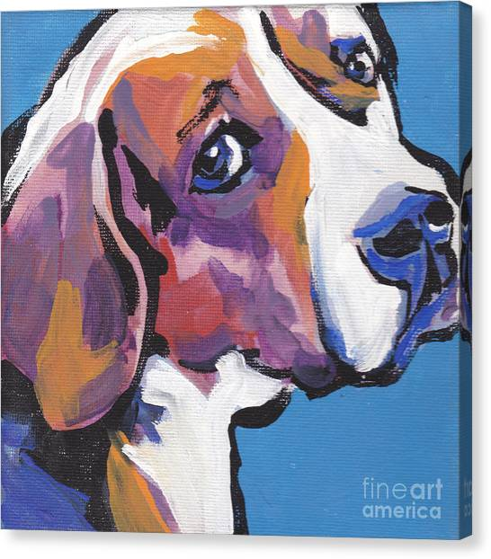 Beagles Canvas Print - Regal Beagle by Lea S