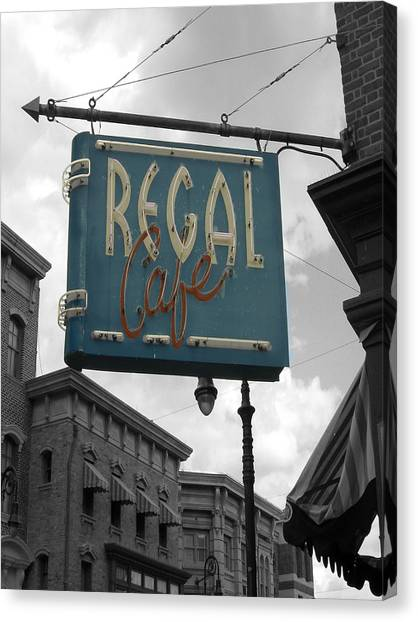 Regal Cafe Canvas Print by Audrey Venute
