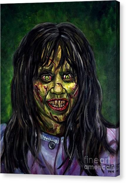 The Exorcist Canvas Print - Regan by Jose Mendez