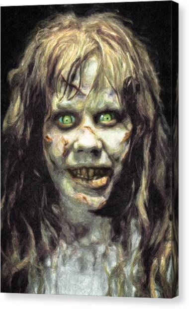 The Exorcist Canvas Print - Regan Macneil by Taylan Soyturk