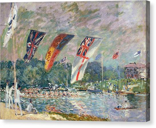Sailing Race Canvas Print - Regatta At Molesey by Alfred Sisley