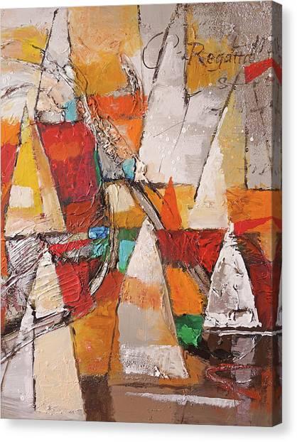 Colorplay Canvas Print - Regatta Pastoso by Lutz Baar