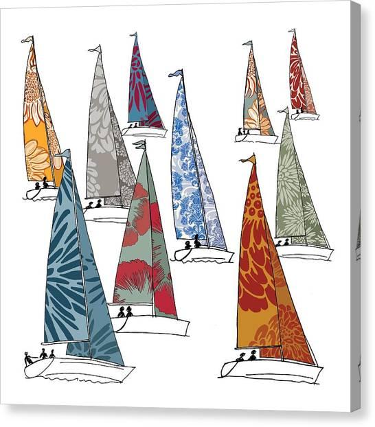 Selection Canvas Print - Regatta by Sarah Hough