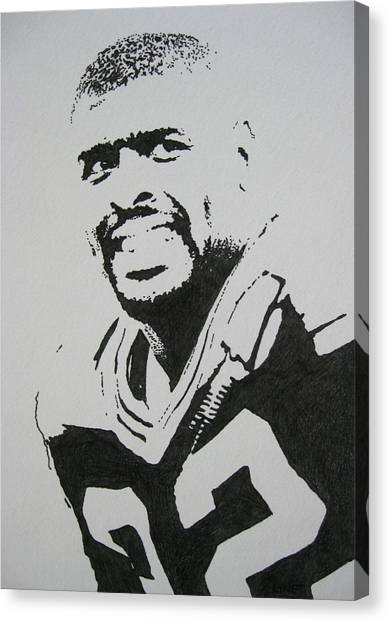 Reggie White Canvas Print - Reggie by Lynet McDonald