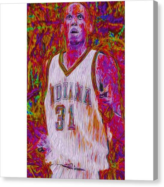 Basketball Canvas Print - Reggie Miller. Ucla. Indiana Pacers by David Haskett II