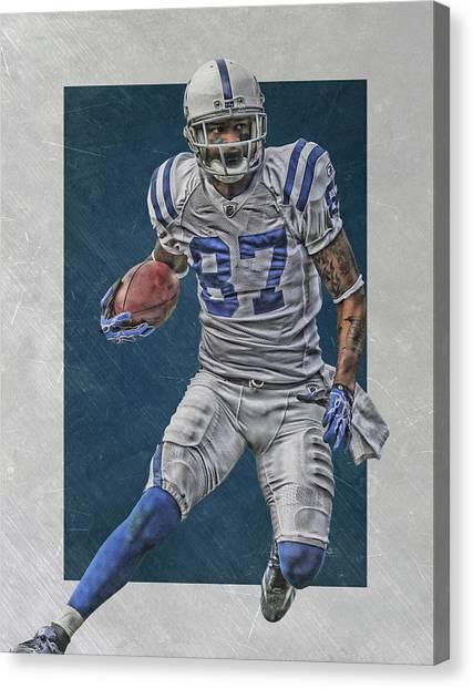 Indianapolis Colts Canvas Print - Reggie Wayne Indianapolis Colts Art by Joe Hamilton