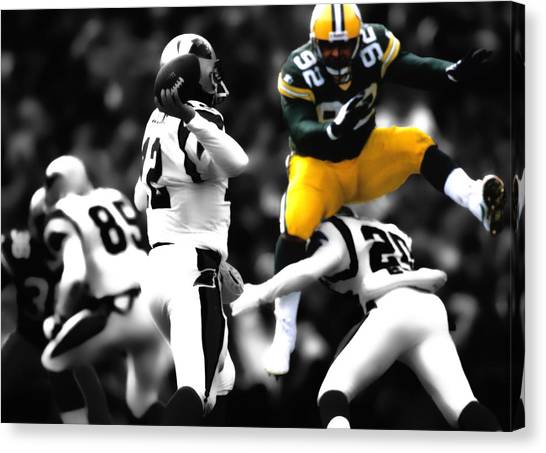 Reggie White Canvas Print - Reggie White Took Flight by Brian Reaves