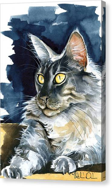 Regina - Maine Coon Painting Canvas Print