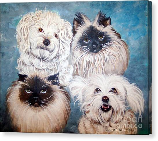 Reigning Cats N Dogs Canvas Print
