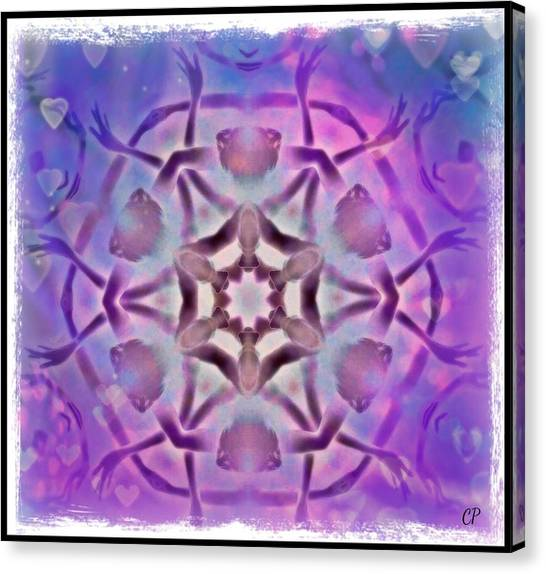 Reiki Infused Healing Hands Mandala Canvas Print
