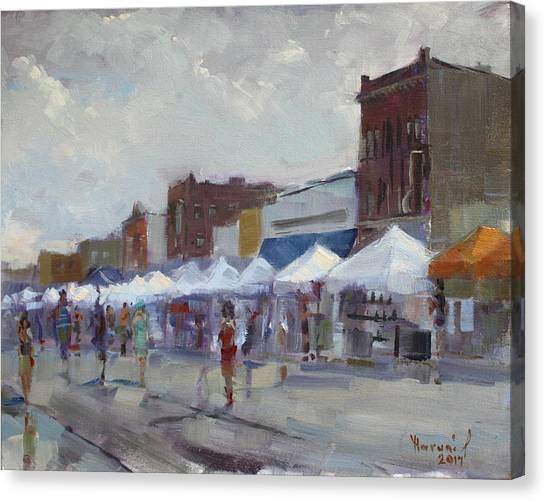 Fair Canvas Print - Rein And Sun At Canal Fest In North Tonawanda by Ylli Haruni