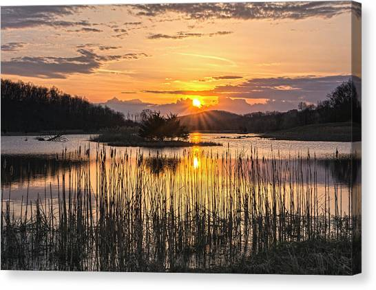Rejoicing Easter Morning Skies Canvas Print