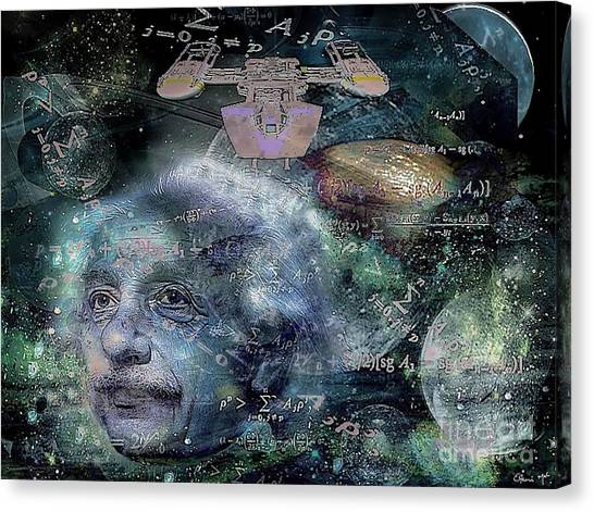 Canvas Print featuring the digital art Relatively Speaking by Eleni Mac Synodinos