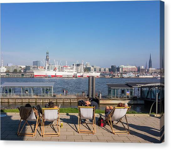 Relax On The Elbe Canvas Print