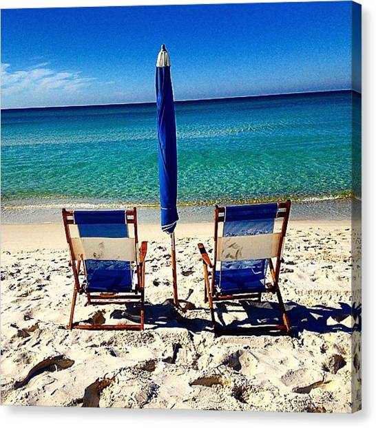 Social Canvas Print - #relax #pcb #beach #sand #ocean by Phyllis Weed