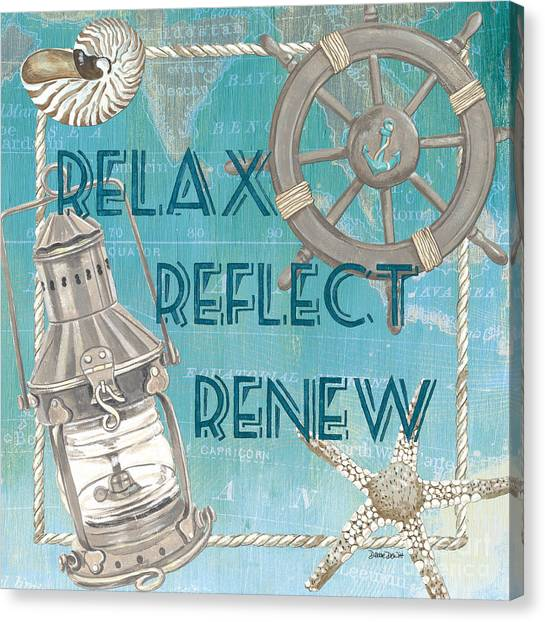 Starfish Canvas Print - Relax Reflect Renew by Debbie DeWitt