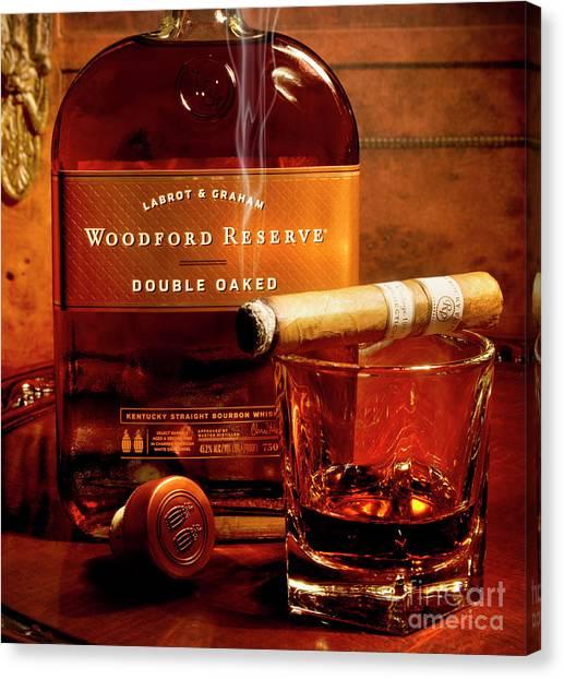 Whiskey Canvas Print - Relaxing by Jon Neidert