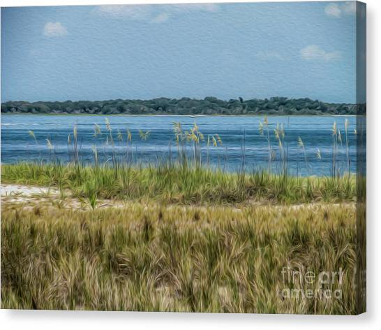 Relaxing On The Island Canvas Print