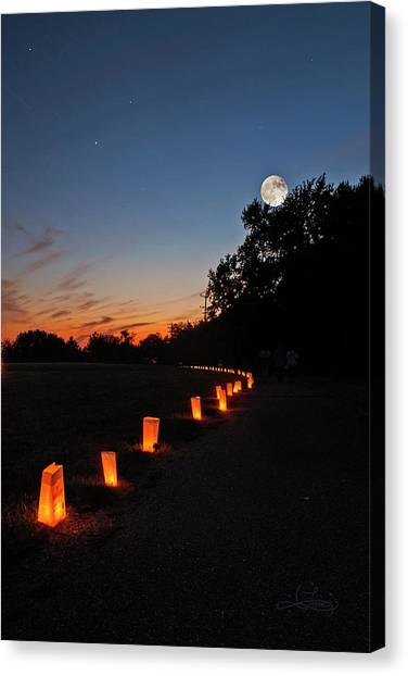 Relay  For Life Canvas Print