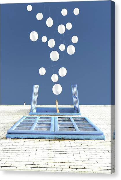 Window Canvas Print - Release by Cynthia Decker