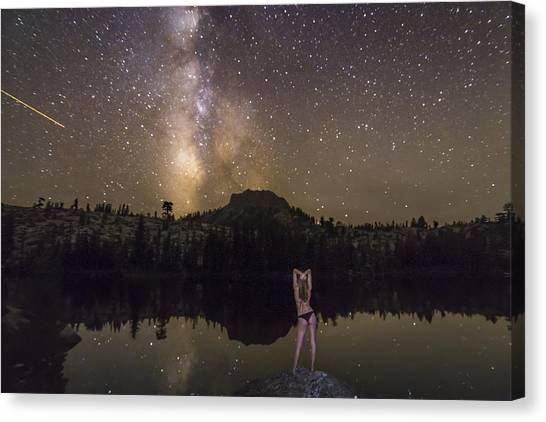Shooting Stars Canvas Print - Release Your Problems by Jeremy Jensen