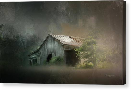 Old Wooden Door Canvas Print - Relic Of The Past by Marvin Spates