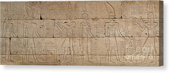 The Nile Canvas Print - Relief From The Temple Of Dendur by Egyptian School