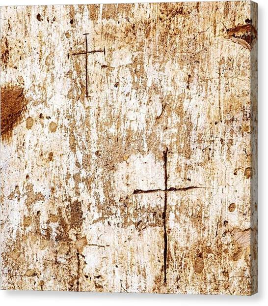 Religious Canvas Print - Religious Graffiti On The Wall Of The by Scott Pellegrin