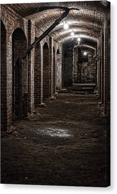 Canvas Print featuring the photograph Remains  by Kristi Swift