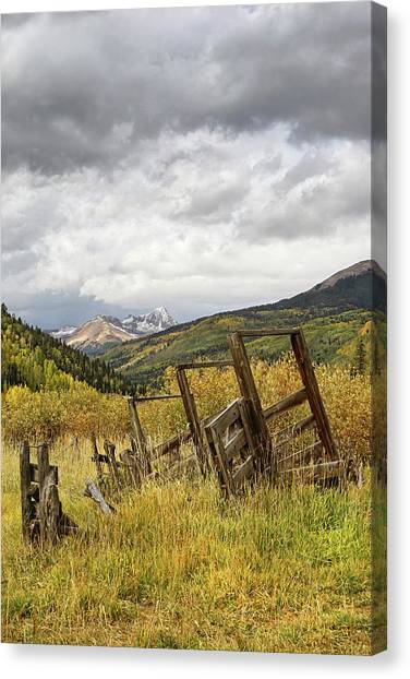 Remains Of A Corral Canvas Print