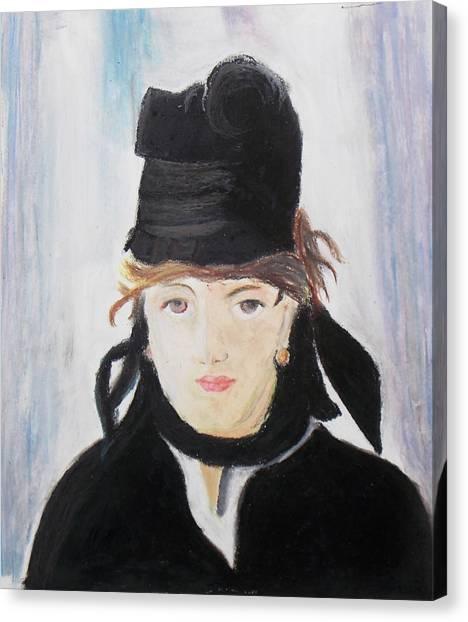Remake Portrait Of Berthe Morisot Canvas Print