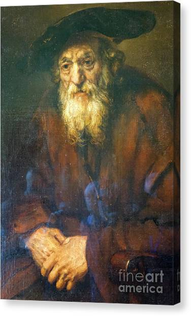 State Hermitage Canvas Print - Rembrandt, Portrait Of An Old Jew by Vladi Alon