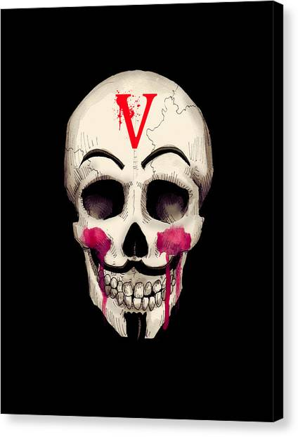 Skull Canvas Print - Remember, Remember Art Print by Ludwig Van Bacon