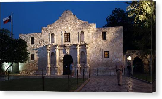 Remember The Alamo Canvas Print by Dennis Stein
