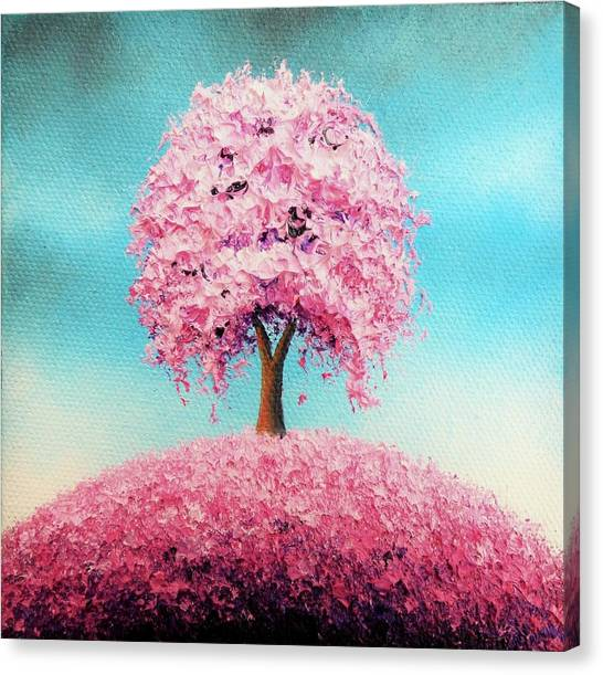 Blooming Tree Canvas Print - Remember The Bloom by Rachel Bingaman