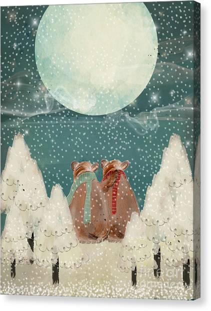 Under The Moon Canvas Print - Remember The Time by Bleu Bri