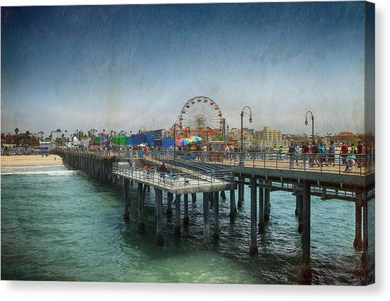 Santa Monica Pier Canvas Print - Remember Those Days by Laurie Search
