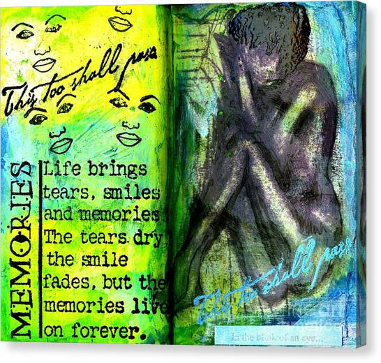 Remembering My Son -  Art Journal Entry Canvas Print
