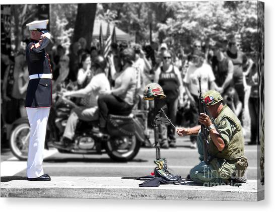 Remembering The Sacrifice Canvas Print - Remembering The Cost Of Freedom by Tom Gari Gallery-Three-Photography