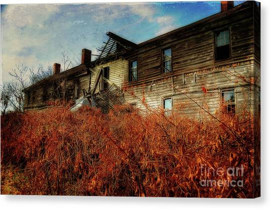 Abandoned House Canvas Print - Remembering When by Lois Bryan