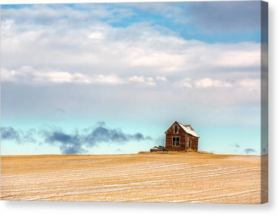Old Houses Canvas Print - Remnants Of The Past by Todd Klassy