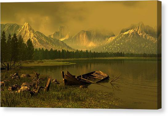 Remnants Of Time Canvas Print