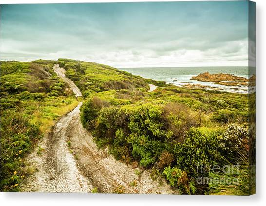 Harbour Canvas Print - Remote Australia Beach Trail by Jorgo Photography - Wall Art Gallery