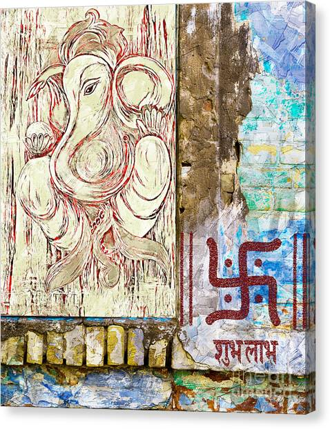 Canvas Print featuring the mixed media Remover Of Obstacles by Lita Kelley