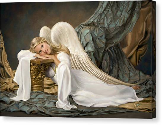 Renaissance Angel Canvas Print by Daria Doyle