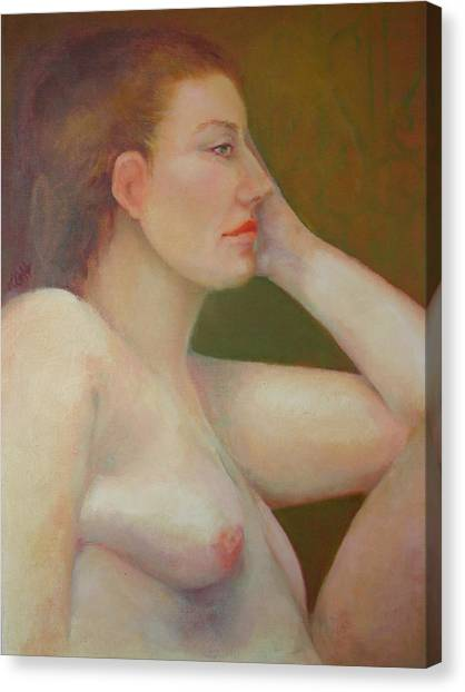 Renaissance Nude  Copyrighted Canvas Print by Kathleen Hoekstra