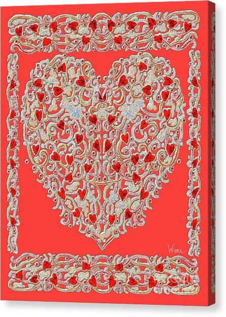 Renaissance Style Heart Canvas Print
